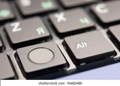 black computer keyboard close-up