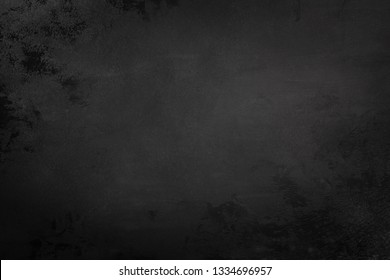 Black concrete background texture with copy space for text. Design template