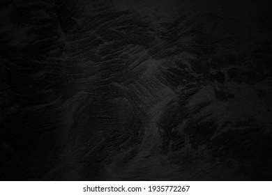 Black concrete street wall background or texture