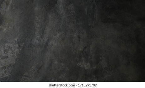 black concrete wall background. texture of dirty cement floor
