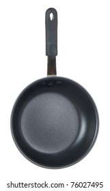 Black cooking pan with white background