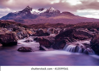 The black cooulins on the Isle of Skye in Scotland