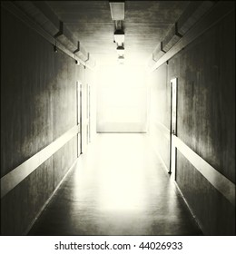 Black corridor