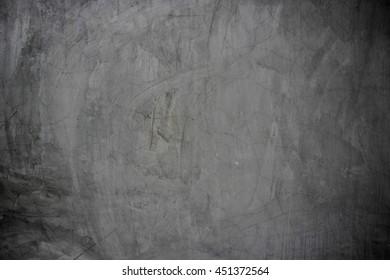Black cracked cement floor