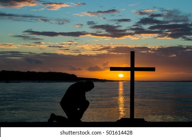 Man Praying On Knees Images, Stock Photos & Vectors | Shutterstock