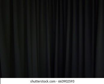 black curtain background scene