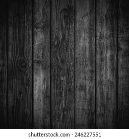 Black dark wood background or texture