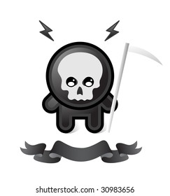 black death on white background