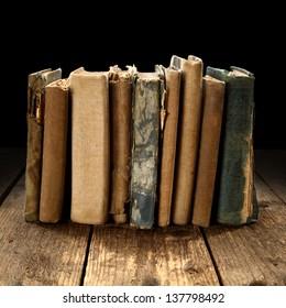 black decoration of old books