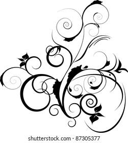 black decorative ornament illustration