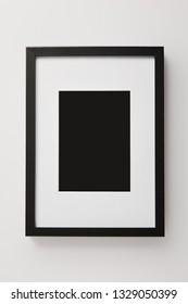 black decorative square frame on white background