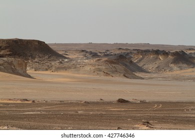 The Black Desert in the Sahara of Egypt