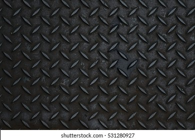 Black diamond steel plate Black and white vintage looking useful as background