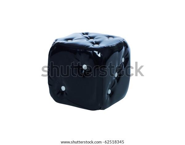 Tremendous Black Dice Cube Chair Stock Photo Edit Now 62518345 Evergreenethics Interior Chair Design Evergreenethicsorg