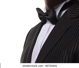 black dinner jacket closeup