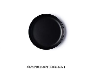 black dish on isolated white background