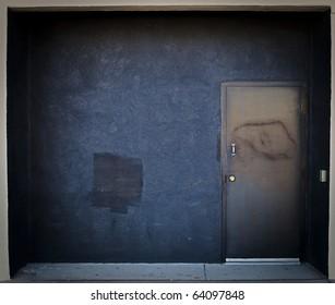 Black Door Entrance