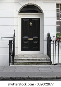 Black Door at Victorian House in London