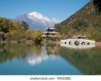 black dragon lake at Lijiang, China