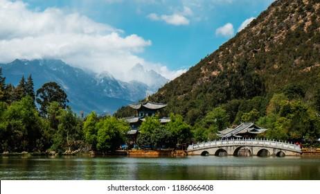 Black Dragon Pool, Lijiang, Yunnan province, China.
