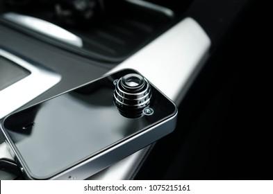 Black DVR Auto with black car interior