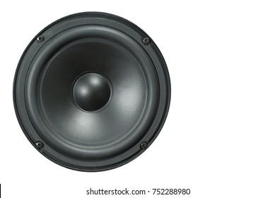 black dynamic speaker isolated