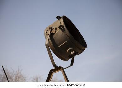 black electric searchlight