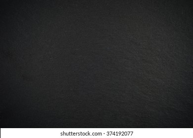 Black empty slate board with vignette for texture or background