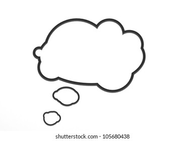 Black Empty Speech Bubble