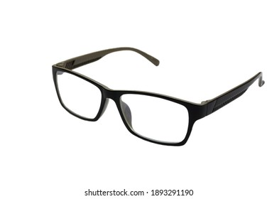 The Black Eye Glasses Isolated on White background.