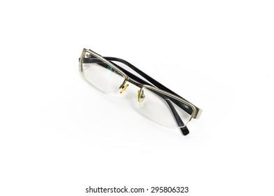Black Eye Glasses Isolated on White backgroubd
