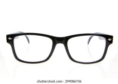Black Eye Glasses Isolated on White