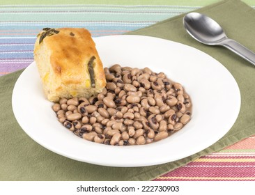 black eye peas and corn bread
