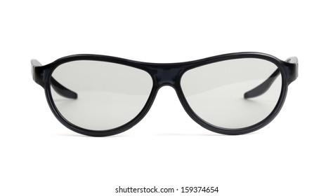 Black eyeglasses isolated on white