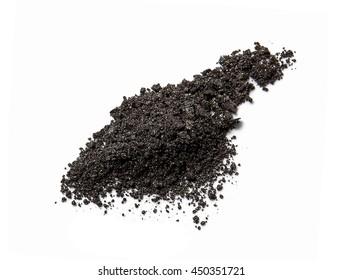 Black eyeshadow isolated on white