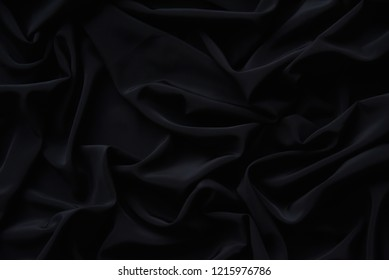 Black Fabric Texture Pattern Background