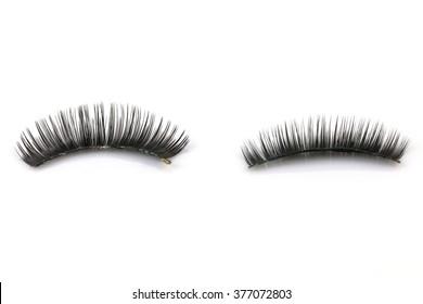 Black false eyelashes through use