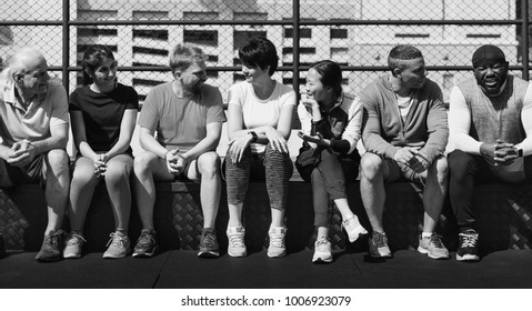 Black family spending time together