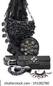 black fashion accessories