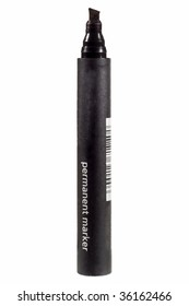 Black felt tip marker isolated on a white background