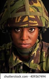 Black Female British Soldier