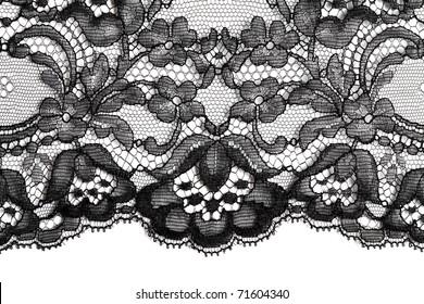 Black fine lace texture textile horizontal