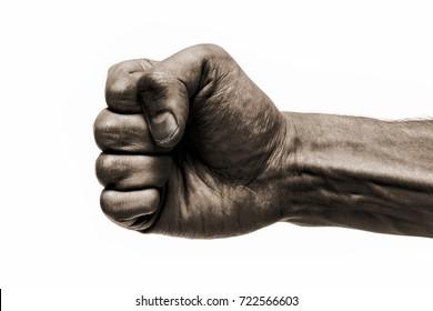 Black fist.