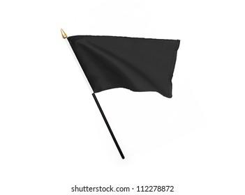 Black flag isolated on white background