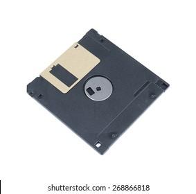 Black Floppy Disc Isolated on white background