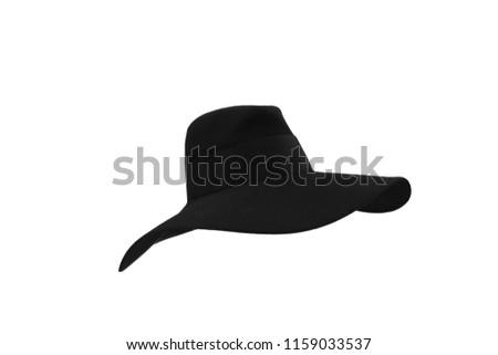 3996b0da88bab Black Floppy Felt Hat With Black Stock Photo (Edit Now) 1159033537 ...
