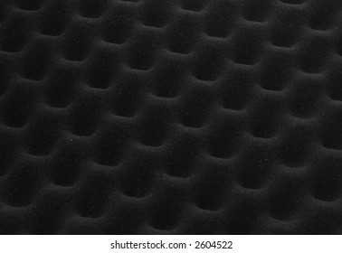 Black foam egg-crate padding is used to protect delicate mechanical and electronic devices and machinery.
