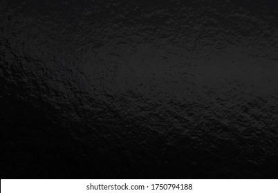 Black foil gradient texture background with uneven surface