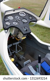 Black Forest, Germany - August 05, 2012: Cabin of a sailplane for free time sport aviation