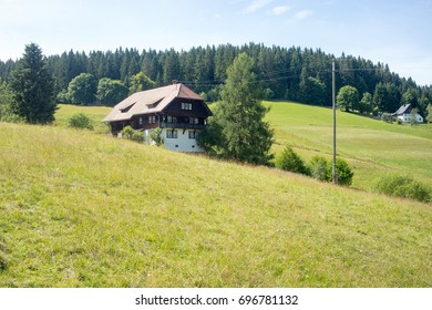 black forest house on alpine meadow, Black Forest, Germany